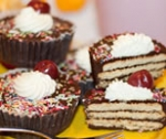 Receta de Cupcakes de chocolate con galleta