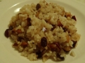 Arroz frito con frutos secos